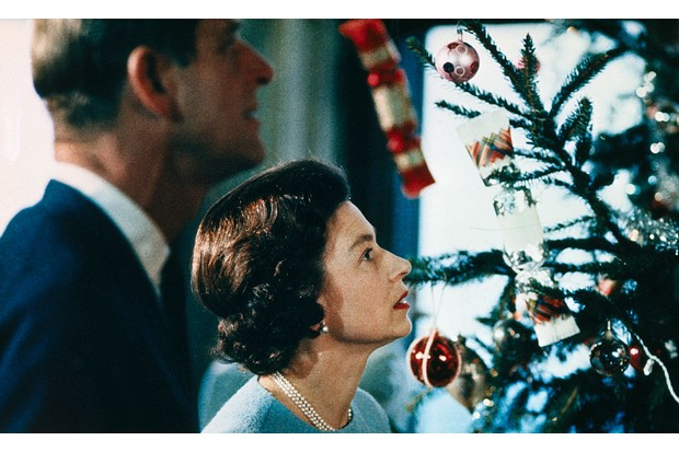Queen Elizabeth and Prince Philip enjoy Christmas at Windsor Castle in a scene from the 1969 documentary. (Image by Bettmann/Getty Images)