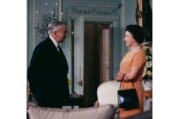 Queen Elizabeth II with British prime minister Harold Wilson, cJune 1969. (Photo by Fox Photos/Hulton Archive/Getty Images)