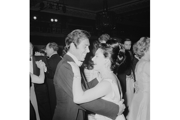 Princess Margaret dancing with her husband Antony Armstrong-Jones - in April 1967. (Photo by Len Trievnor/Express/Hulton Archive/Getty Images)