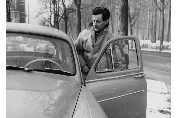RAF Group Captain Peter Townsend, currently in a relationship with Princess Margaret, pictured getting in to his car in Brussels, March 14th 1955. (Photo by Central Press/Getty Images)