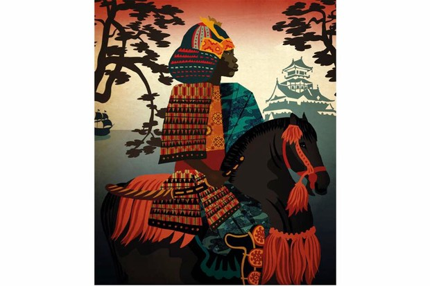 An African samurai: the tall, strong African man who acquired the name Yasuke in Japan was at first an object of curiosity but soon became a prized samurai warrior serving a powerful warlord in the violent intrigues that wracked the country during that volatile era. ((Illustration by Lynn Hatzius for BBC World Histories)