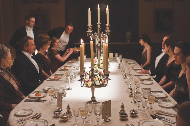 Dinner at Downton Abbey