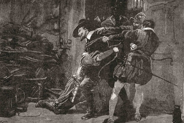 Picture depicting the arrest of Guy Fawkes