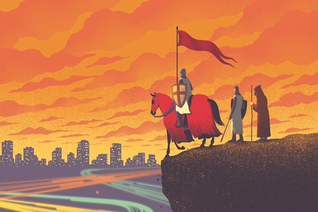 (Illustration by Davide Bonazzi for BBC World Histories magazine)