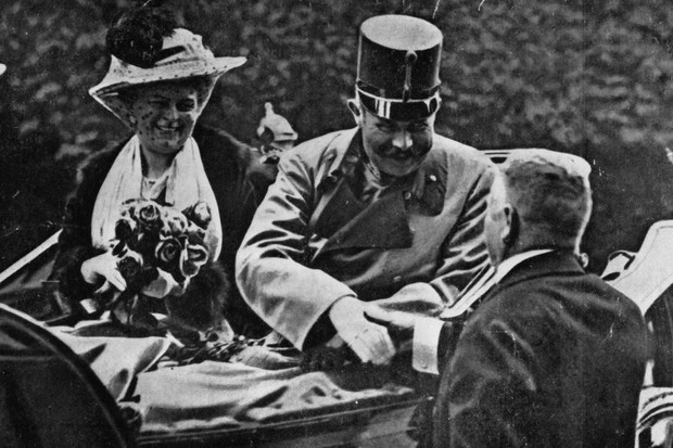 Photo of Franz Ferdinand and his wife Sophie