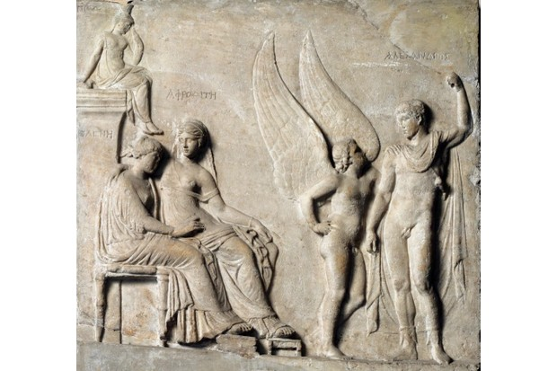 A frieze depicting the legend of Troy
