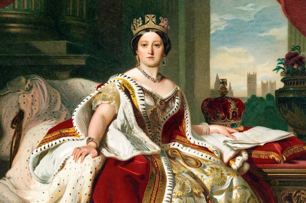 Queen Victoria in her coronation robes.