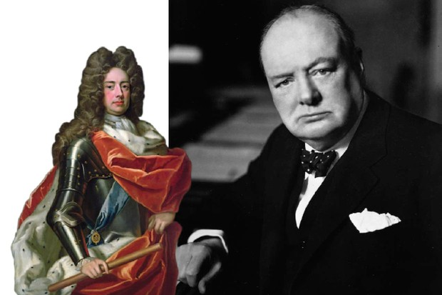 Few war leaders have been more profoundly steeped in history than Winston Churchill, who drew inspiration from his ancestor – and one of Britain's most celebrated generals – the Duke of Marlborough (left). (Images by Getty Images/Bridgeman