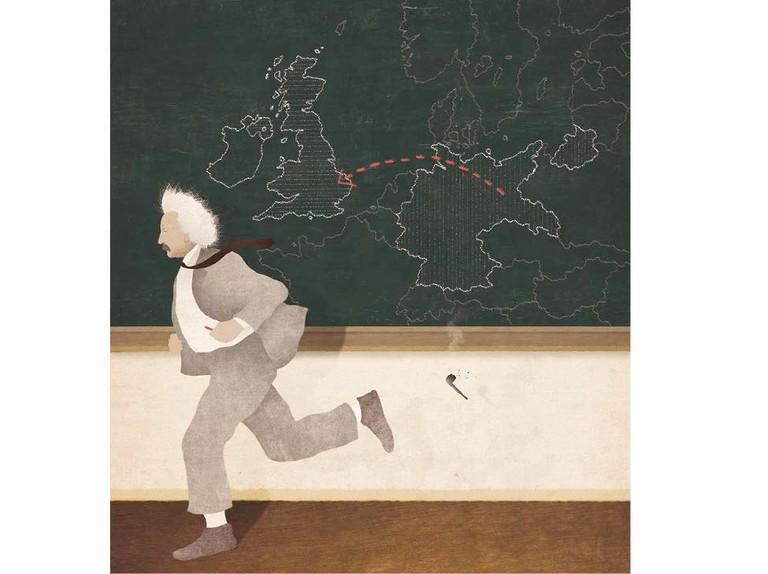 Einstein on the run: when the brilliant scientist fled to England