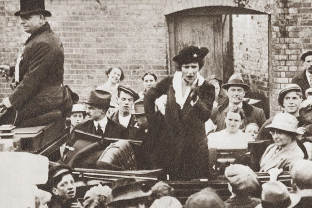 Nancy Astor on the campaign trail in 1919