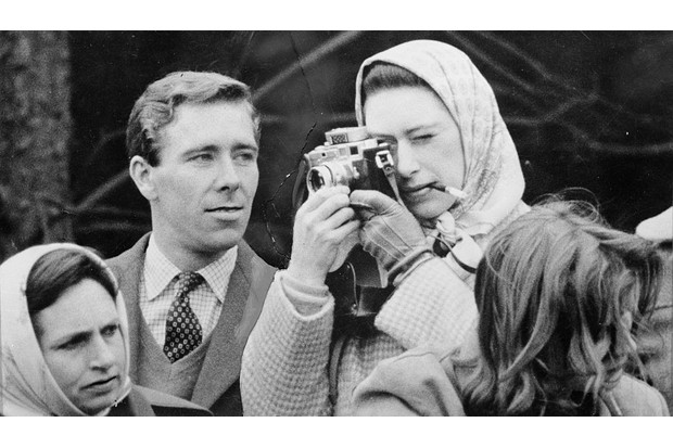 Antony Armstrong-Jones, the Earl of Snowdon and Princess Margaret at the Badminton Horse Trials. (Photo by Keystone/Getty Images)