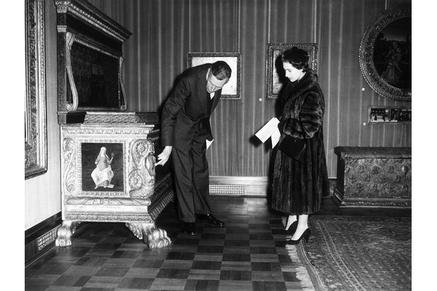 Sir Anthony Blunt and Princess Margaret, c1958.
