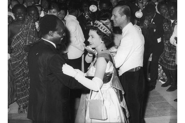 The Queen dances with Ghana's first president, Kwame Nkrumah, in 1961