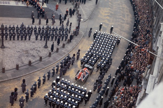 The state funeral of Sir Winston Churchill