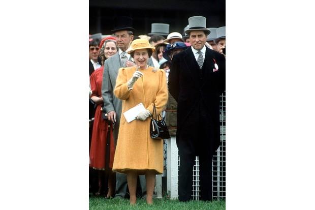 The Queen and her racing manager Lord Porchester, 'Porchie'.