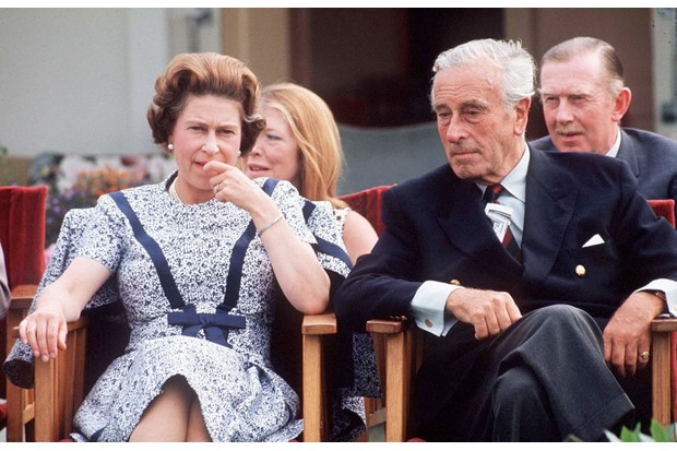 Queen Elizabeth II and Lord Louis Mountbatten