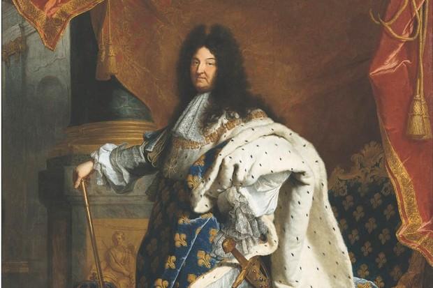 A portrait of Louis XIV in 1701.