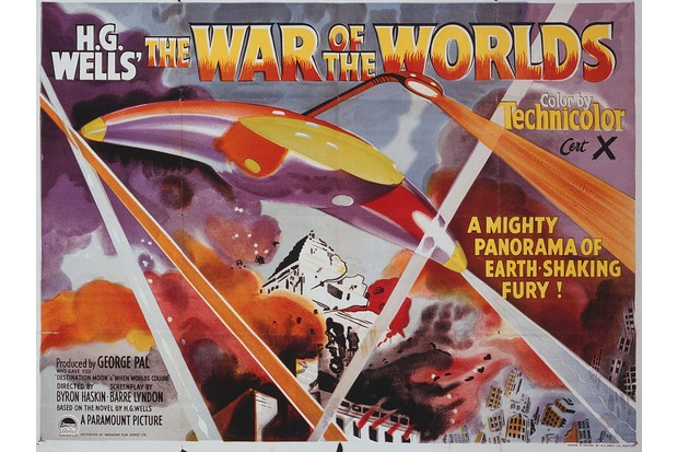 A poster for Byron Haskin's 1953 science fiction film 'The War of the Worlds'. (Photo by Movie Poster Image Art/Getty Images)