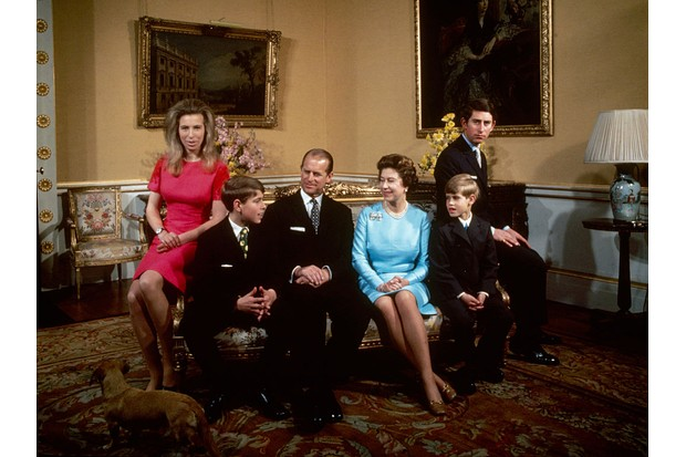 The royal family in Buckingham palace, c1971.