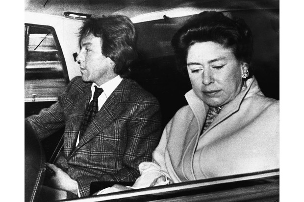 Princess Margaret and Roddy Llewellyn departing for a holiday in the Caribbean.