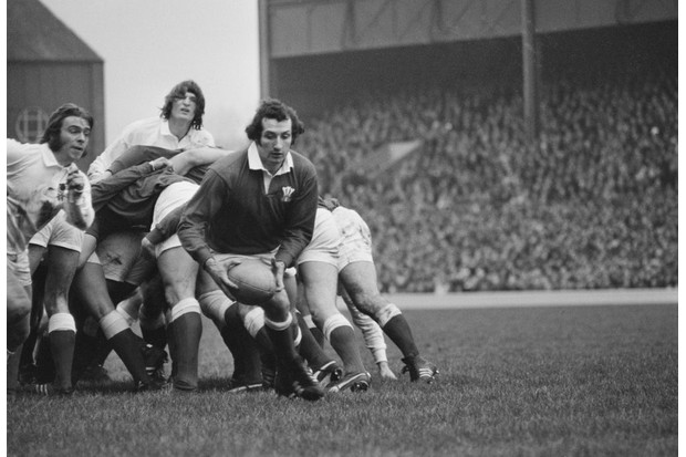 Gareth Edwards, a Welsh international rugby player, during the 1972 Five Nations Championship in 1972