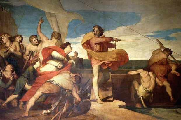 George Frederic Watts' 1846 painting 'Alfred Inciting the Saxons to Prevent the Landing of the Danes'