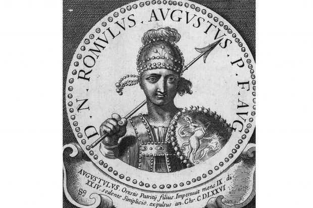 Picture of the last Roman Emperor, Romulus Augustus