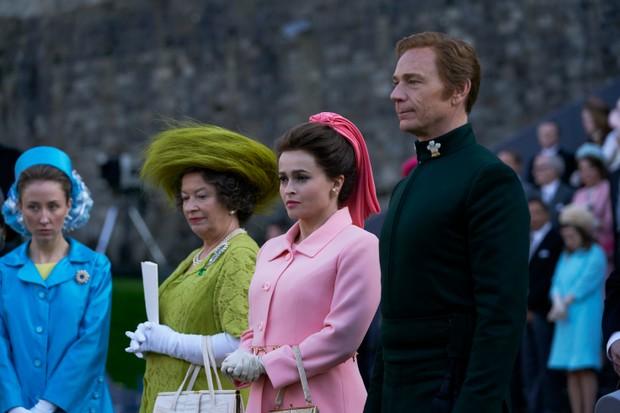 Helena Bonham-Carter and Ben Daniels in The Crown
