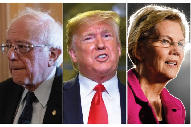 Bernie Sanders, Donald Trump and Elizabeth Warren – all above 70 years old. (Images by Getty)