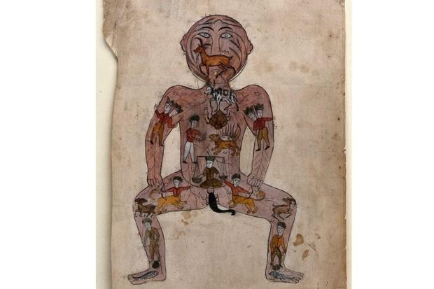 Illustration of the Zodiac Man