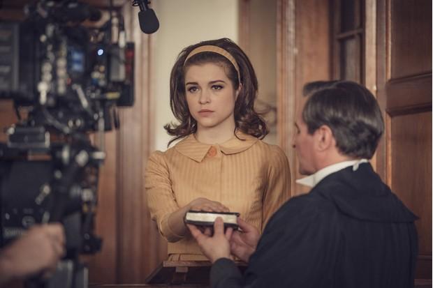 The Trial of Christine Keeler. (Image by Ecosse Films/ Ben Blackall)