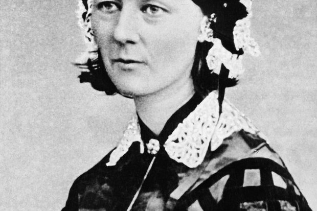 A portrait of Victorian nurse Florence Nightingale