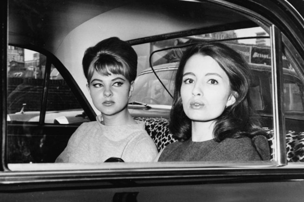 Mandy Rice-Davies (left) and Christine Keeler