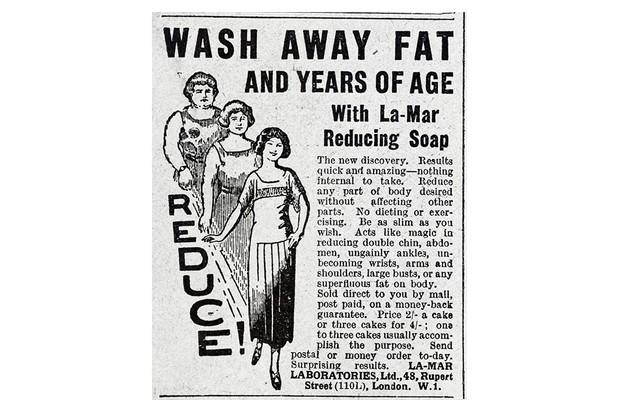 Advert for La-Mar reducing soap