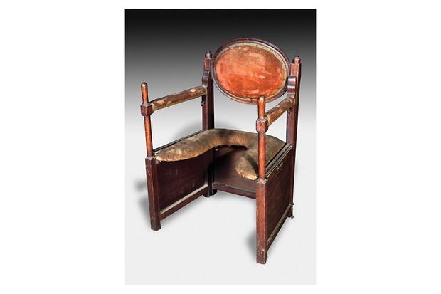 The birth chair, originally designed by Soranus of Ephesus