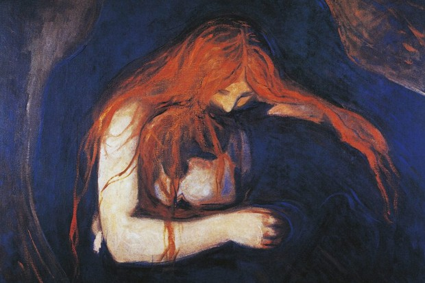 Edvard Munch's painting 'Love and Pain'