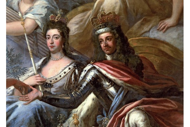 An 18th-century portrait of William III and his wife and consort, Mary II