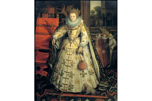 Queen Elizabeth I holds an olive branch