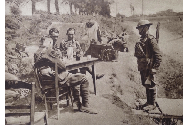 A messenger delivers information on the western front