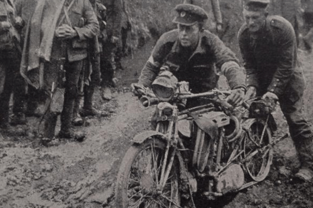 A despatch rider during WW1, as featured in new Sam Mendes film '1917'