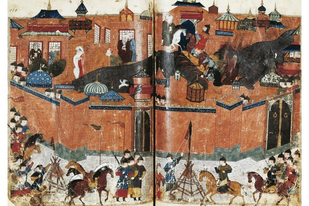 Mongols laying siege to Baghdad in 1258