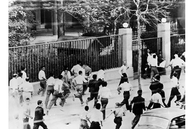 Rioters in Tehran, 1953