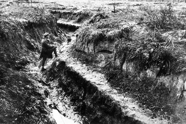 A section of a Hindenburg trench during WW1
