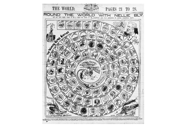 Un jeu de société du voyage de Nellie Bly