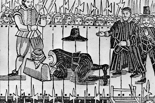 The execution of Charles I in 1649.