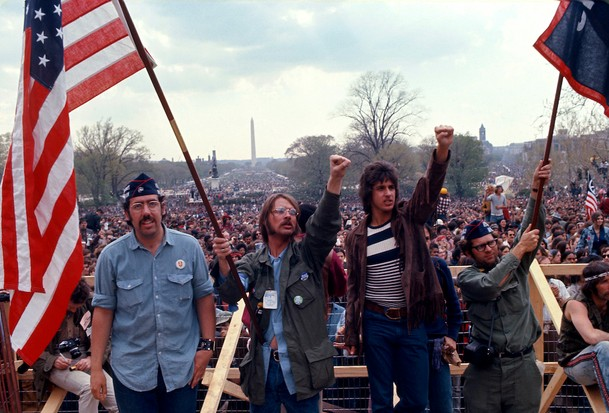Hippies, veterans and celebrities alike descended on the Mall, Washington, DC to protest the war.