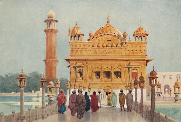 An illustration of the Golden Temple, Amritsar, c1880