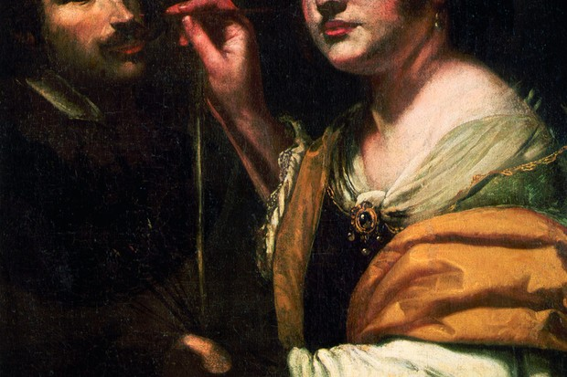Vivid experiences: a self-portrait of Artemisia Gentileschi, the Italian Baroque artist whose brilliant renderings of biblical and classical scenes earned her commissions from some of the most powerful figures in 17th century Europe. (Photo by Araldo de Luca/Corbis via Getty Images)