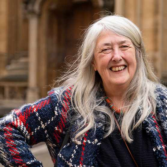 Mary Beard, writer and feminist, at the Oxford Literary Festival 2019 on April 3, 2019 in Oxford, England