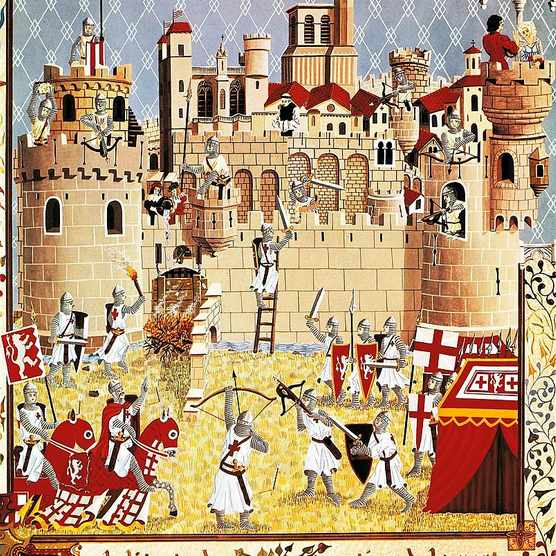 Picture of the Battle of Beziers